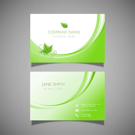 business card  leaf design   vectors