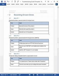 Troubleshooting Guide Template