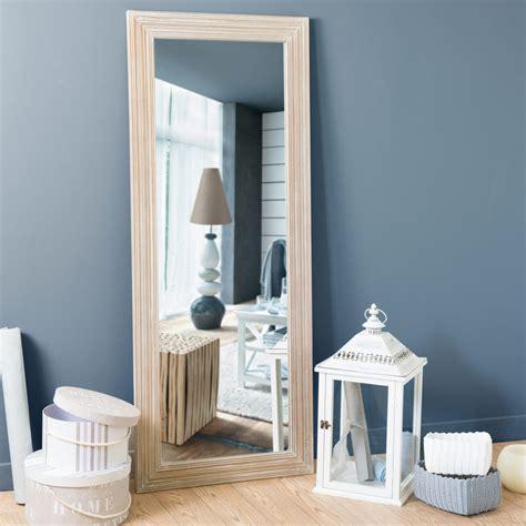 miroir en bois de paulownia   cm campagne maisons du