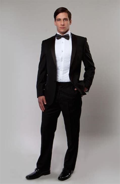 mens black notch lapel modern fit tuxedo wedding tuxedos