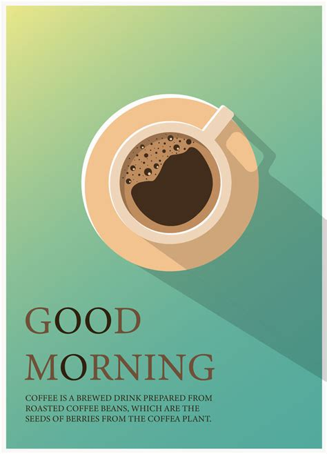 good morning coffee vector mockup templates images