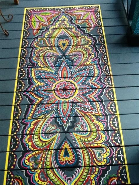 painted porch rugs home design garden architecture