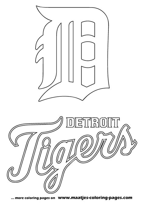 detroit tigers color page   clip art