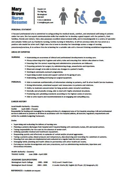 nursing resume templates