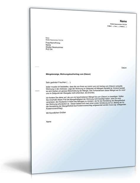 Maengelruege Und Maengelbeseitigung by M 228 Ngelanzeige Gegen 252 Ber Verk 228 Ufer Muster Vorlage Zum