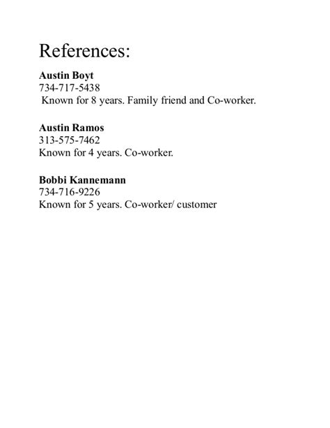 Who Can Be References On A Resume by References For Resume