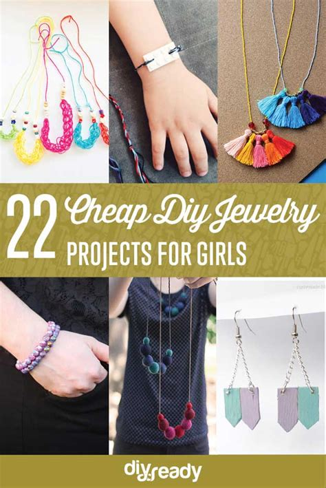 cheap jewelry projects  girls diy projects craft ideas