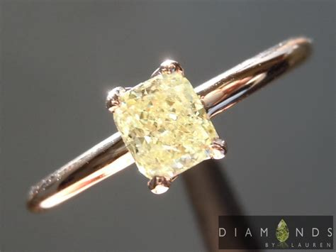 yellow diamonds in the light 40ct fancy light yellow i1 cushion cut ring r6964
