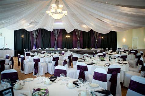Modern Ontario Purple Banquet Hall Wedding By C'est Chic