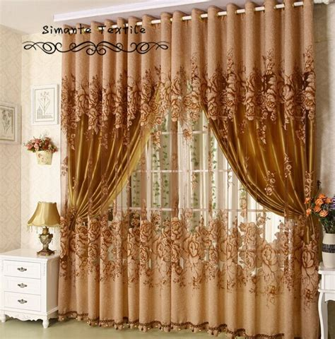quality burnt out sheer curtain with blackout lining