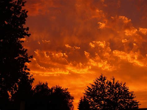photo sunset red clouds sky evening  image