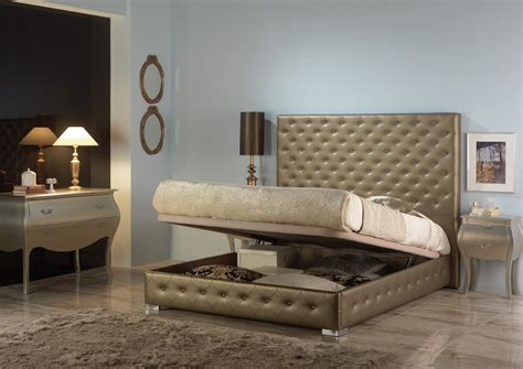 acheter votre lit capitonn 233 dor 233 avec lit coffre chez simeuble