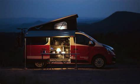 nissan debuts pop top  fully electric camper vans