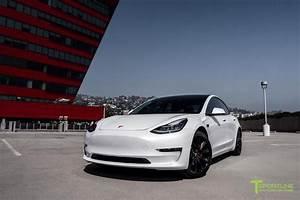 Pearl White Tesla Model 3 - Custom Red Diamond Leather Interior – T Sportline - Tesla Model S, 3 ...