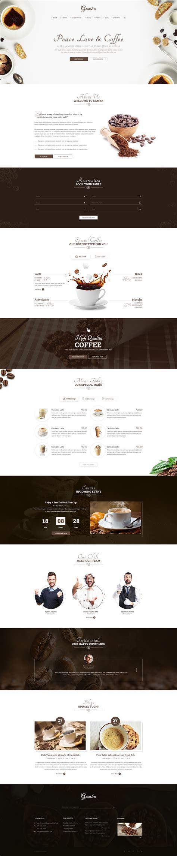 Desarrollo Web Templat by Gamba Coffee Drink Psd Template Desarrollo Web