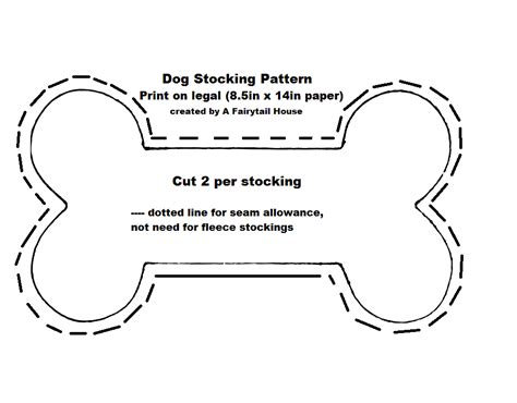 simple diy fleece dog stocking