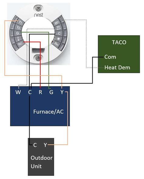 2nd Nest Wiring Diagram by Nest 2nd With Armstrong And Taco X Wiring Issue