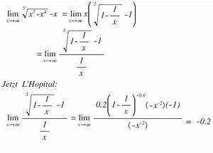 Grenzwerte Von Reihen Berechnen : limes gegen unendlich finden f r lim 5 x 5 x 4 x mit l 39 hospital mathelounge ~ Themetempest.com Abrechnung