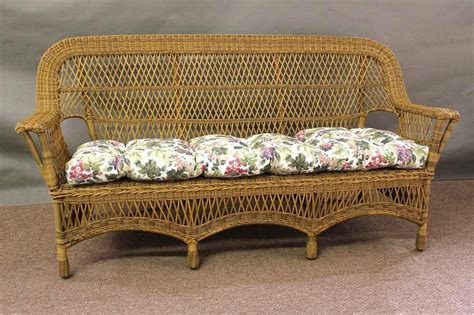 rattan settee mackinac all weather wicker sofa all about wicker