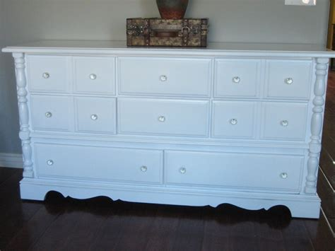 White Dresser by European Paint Finishes Shabby White Dressers