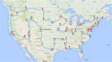 This Is The Best Usa Roadtrip Plan According To Science