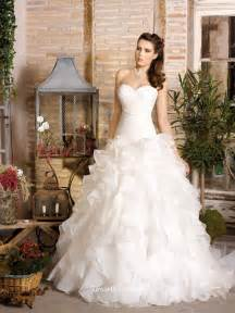 wedding dress skirt organza strapless shirred bodice classic wedding dress with ruffle skirt groupdress