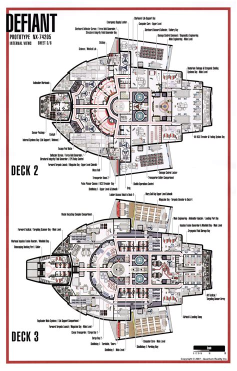 Starship Voyager Deck Plans by Uss Defiant Deck Plans Pictures To Pin On