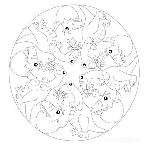 immagini dei mandala da colorare 10 mandala da colorare sui dinosauri