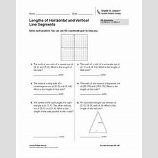 Lengths Of Horizontal And Vertical Line Segments Worksheet For 5th  7th Grade  Lesson Planet