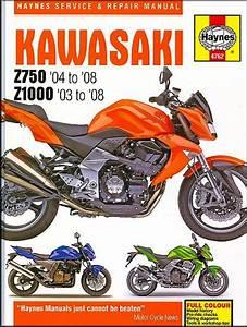 Kawasaki Z750  Zr750   Z1000  Zr1000  Repair Manual 2003