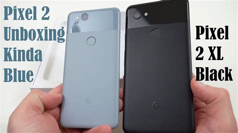 pixel 2 kinda blue unboxing better display vs pixel 2 xl