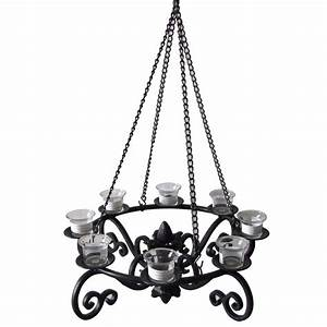 shop allen roth 19 in x 19 in black metal votive candle With decorative outdoor lighting at lowes