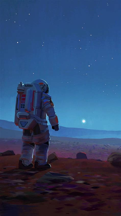 mars mission astronauts space ship nasa iphone wallpaper