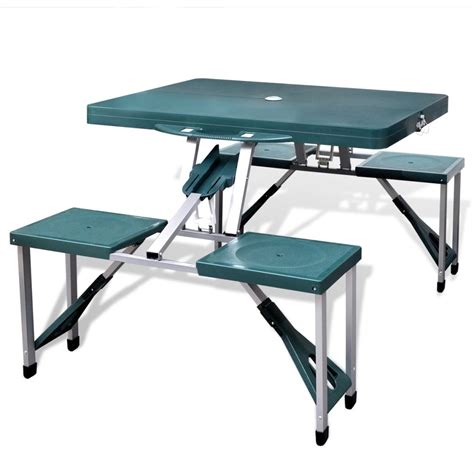 table pliante 4 chaises vidaxl co uk foldable cing table set with 4 stools
