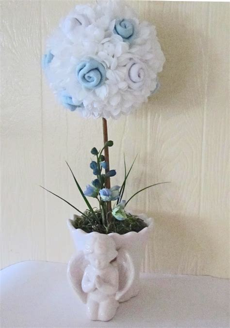 Baptism Baby Boy Topiary Baby Blessing Topiary