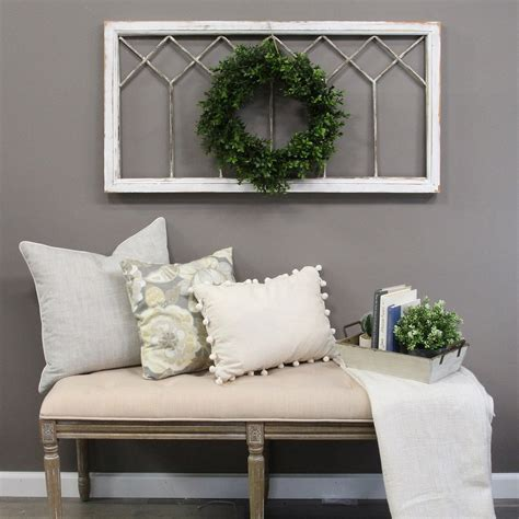 Decoration of beautiful autumn for the design of the premises. Stratton Home Decor Distressed Window Panel Wall Decor