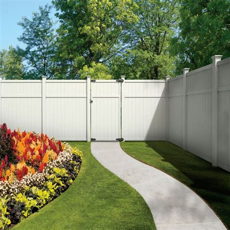 shop gatehouse arborley  ft   ft white flat top privacy