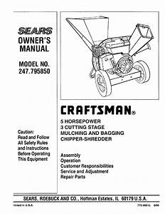 Craftsman 247 795850 User Manual