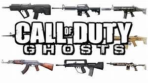 """Call Of Duty Ghosts: """"CONFIRMED GUN LIST"""" """"GHOSTS GUNS ..."""
