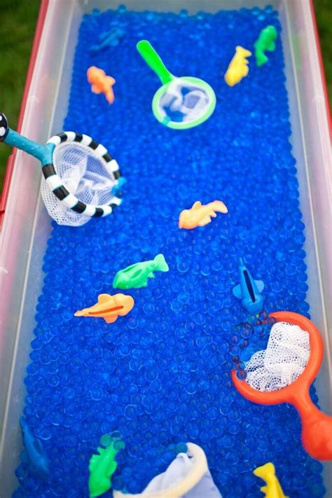 karas party ideas colorful  fishing birthday party