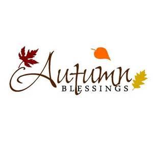 Autumn Fall Blessings Clip Art