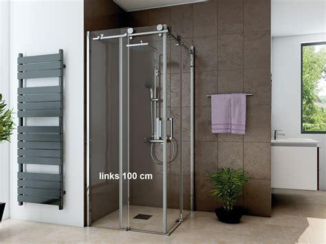 dusche 80 x 100 dusche eckeinstieg schiebet 252 r 100 x 80 cm 220 cm hoch 2 teilig