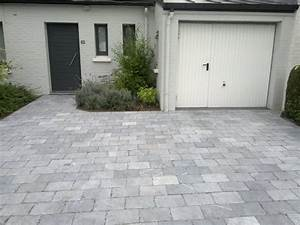 les entrees de garage en pierre With entree de garage en beton