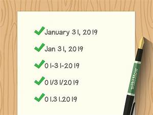 3 Easy Ways to Write the Date on a Letter - wikiHow