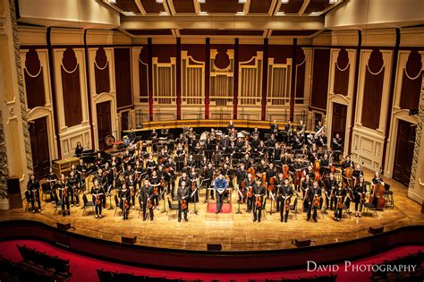 full orchestra standing pittsburgh youth symphony orchestra