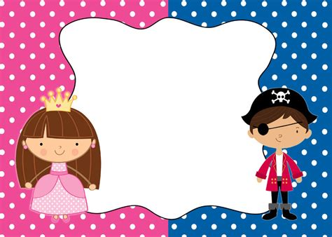 30 Cards Pirate Princess Blank Invitations Thank You Note