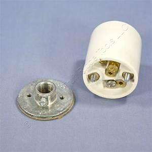 P S Medium Base Porcelain Keyless Lamp Holder Light Socket