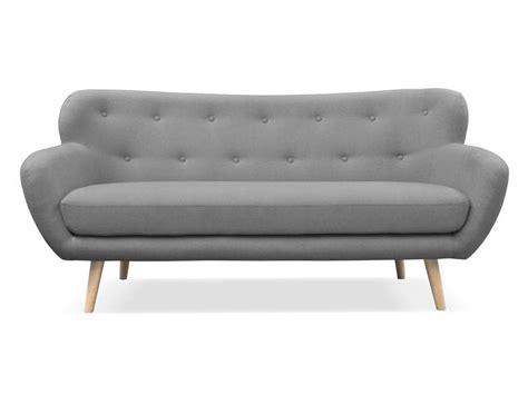 canapé fixe 3 places en tissu oslo coloris gris foncé