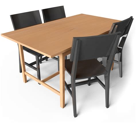 cad and bim object norden gateleg table and chair ikea