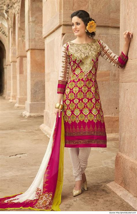 Boat Neck Indian Suits by Cotton Salwar Kameez Neck Designs Boat Neck Design
